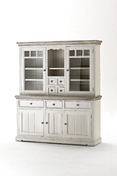 """Vitrine """"Mon Monde I"""" Buffet, recyceltes Kiefernholz, white sanded, 169x200x47cm"""