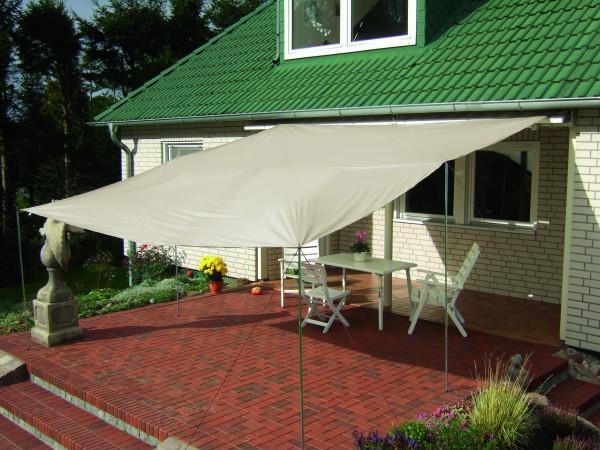 """Sonnensegel """"Summerday"""" 300x400cm sandfarben beige mit UV-Schutz Sonnenschutz"""