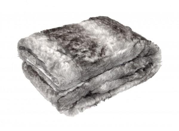 "Wohndecke ""Luna"" grau Polyester Microfaser-Fleece Tagesdecke Kuscheledcke Zudecke"