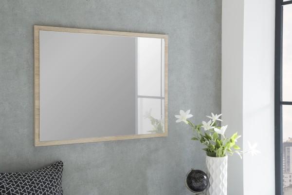 """Spiegel """"Betty 4"""", Eiche sägerau, 90 x 65 x 2 cm, mit Rand, Spiegelfläche 85 x 60 cm"""