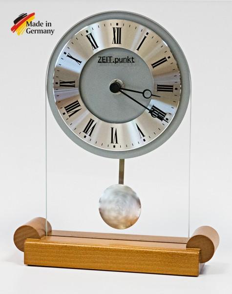 """Analoge Tischuhr Standuhr """"Rennes"""" Uhr mit Pendel, Standuhr, Küche, Wohnzimmer, Diele/Flur, 23x18 cm"""