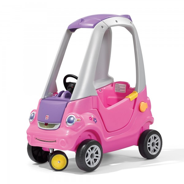 "Kinderauto ""Llie"" in rosa mit Dach aus Kunststoff 71,1x44,5x87,6cm"