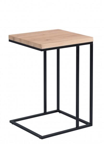 """Beistelltisch """"Norja"""" 36x62x43cm Artisaneiche Gestell schwarz Tisch"""