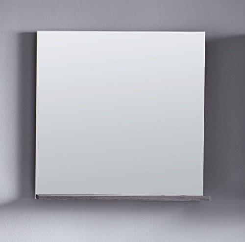 Spiegel mit Ablage 'Uni Star', Badspiegel, Hängespiegel, Badezimmerspiegel, Spiegel, weiss melamin