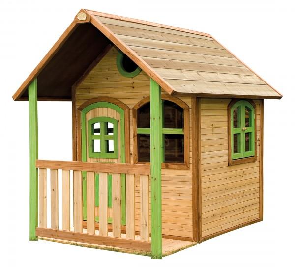 """Holzspielhaus mit Veranda """"Savige"""" 137x191x178cm aus Zedernholz in braun"""