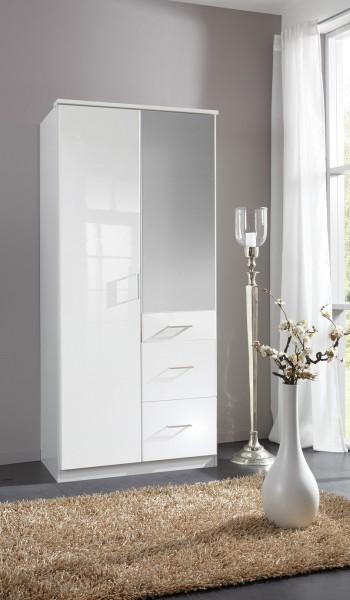"""Kleiderschrank, Spiegelschrank, Schlafzimmer, """"Boca Mirror"""", Beauty.Scouts, Hochglanz weiß, weiss"""