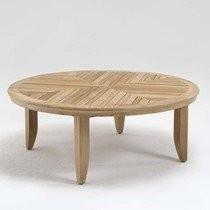"""Teaktisch """"San Diego"""" rund Holz Beistelltisch Teakholz 100 cm Garten"""