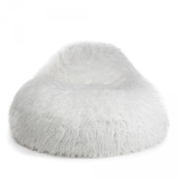 Pushbag Seat XL Fur 150x115x80 cm White