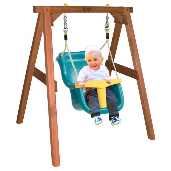 """Babyschaukel """"Arian"""" mit Sitz aus Hemlock-Holz in braun 103x120x134cm Schaukel"""