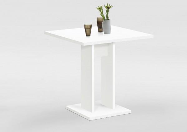 """Esstisch """"Frauke"""" weiß 70x77,5x70cm Säulentisch Tisch Ablagetisch"""