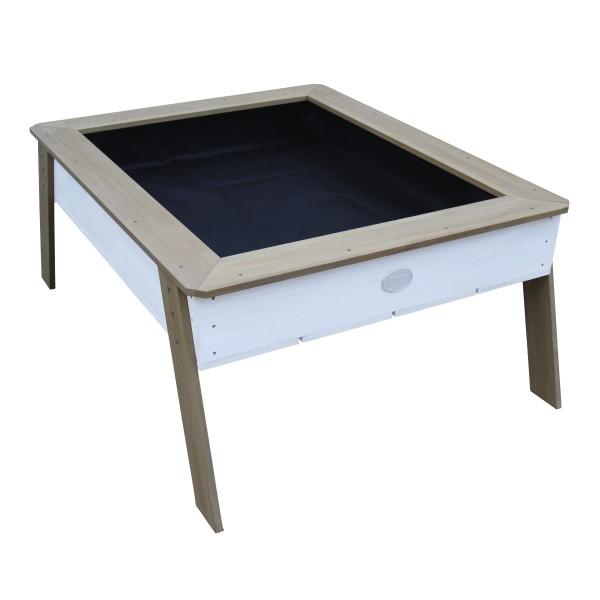"""Sandtisch mit Hochbeet """"Marlin"""" braun weiß 110x93,50x50cm (L/B/H) Gartenhochbeet Sandspieltisch"""