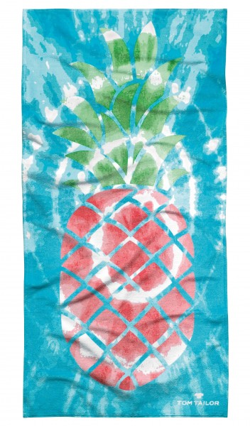 """Tom Tailor Strandtuch """"Ananas Style"""", turquise, 85 x 160 cm"""