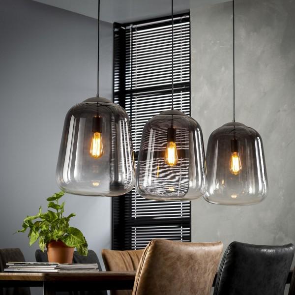 """Hängelampe """"Soppana""""3 Lampenschirme grau 135x32x150cm (B/T/H) Deckenlampe Zijlstra"""