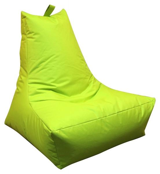 Mesana XXL Lounge-Sessel, 100x90x80 cm, Sitzsack Outdoor & Indoor, wasserabweisend, apfelgrün