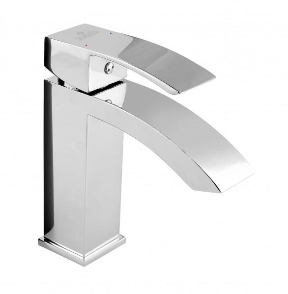 """Badezimmerarmatur """"Shine """" Einloch-Waschbeckenarmatur stehend silber verchromt modern elegant"""