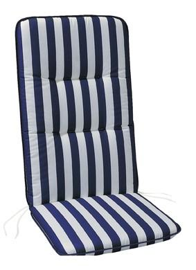 """Polsterauflage Sesselauflage Vlieswendeauflage """"Rittersporn"""" für Hochlehner 6cm, 120x50x6cm"""