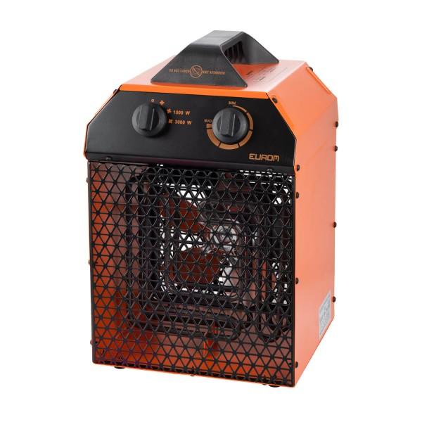 """Werkstattheizung """"Akai"""" schwarz/orange 25x25x39cm 3000W elektrische Heizung Garagenheizung"""