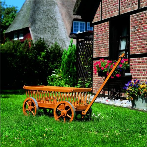 """Deko-Leiterwagen """"Judy"""" honigbraun imprägniert 120x49x60cm Gartendekoration"""
