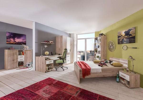 Jugendzimmer, Kinderzimmer, komplettprogramm, Vienna Teen, San remo Eiche, Alpinweiß