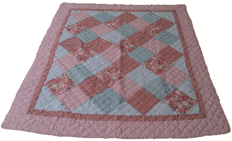"Beauty.Scouts Patchworkdecke Tagesdecke Plaid ""Peach Blossom"" 155x180 cm"