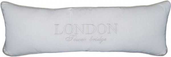 "Beauty.Scouts Kissen Zierkissen ""London Tower Bridge"" 25x70x14cm weiß"