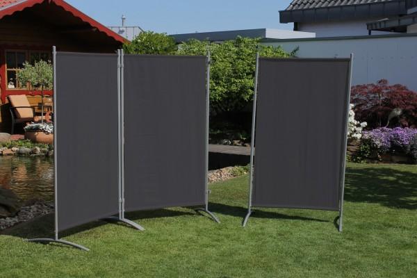 """Stellwand 3-teilig """"Static"""" (B/H) ca260x156cm Raumteiler Sichtschutz anthrazit"""