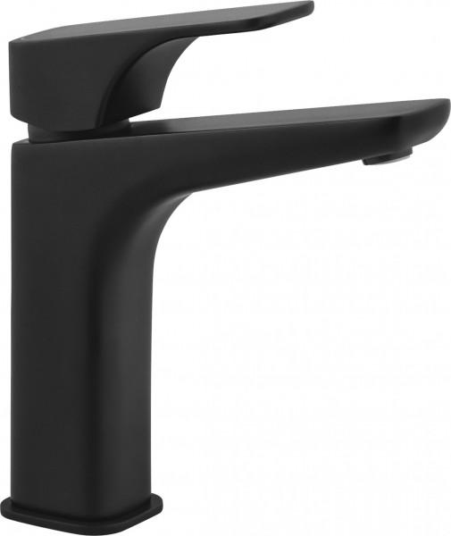"""Badezimmerarmatur """"Life"""" Einloch-Waschbeckenarmatur stehend schwarz matt modern elegant"""
