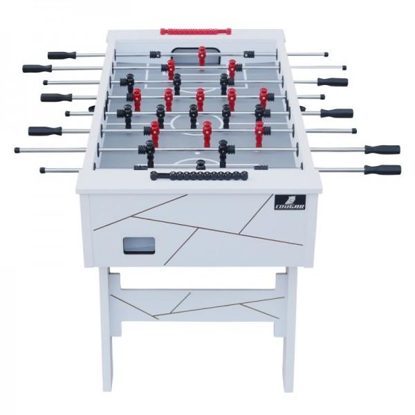 """Fußballtisch """"Bale"""" aus Holz in weiß 140x75x88cm Tischfussball Kicker"""