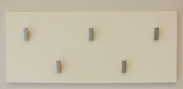 "Wandgarderobe ""Svea"", 25 x 60 x 5 cm, weiß HG, Garderobe, Flurgarderobe, Flur"