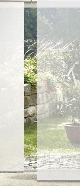 Emotion Textiles Flächenvorhang Schiebevorhang 1er Weiß Transparent inkl. Montagesatz