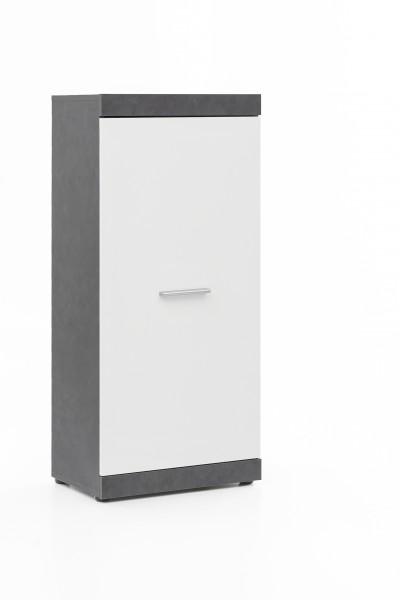 """Anstellschrank """"Amandus"""", graphit/weiß, 50 x 114,5 x 32,5 cm, Wohnzimmer, Wohnzimmerschrank, Schrankv"""