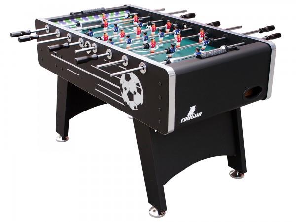 """Fußballtisch """"Mats"""" aus Holz in schwarz 141x75x88cm Tischfussball Kicker"""