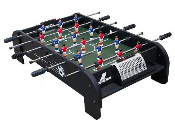 """Mini Fußballtisch """"Ronaldo"""" aus Holz in schwarz 94,6x51,8x25,1cm Tischfussball"""