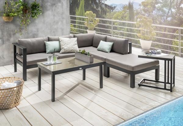 "Sofaset ""Lennox"", 4er-Set, Gartensofaset, Balkonsofaset, mit Tisch, mit Polster, Garten, Balkon"