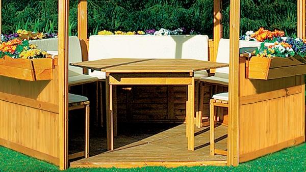 """Sitz- und Rückenauflagen """"Marion"""", für Pavillon, beige, Auflagen, Möbelauflagen, Garten"""