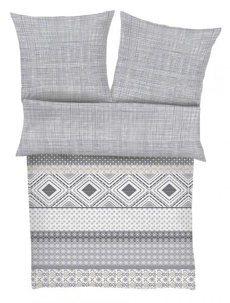"""s.Oliver Mako- Satin Bettwäschen """"Loft Living"""" grau,weiß 135x200 cm"""