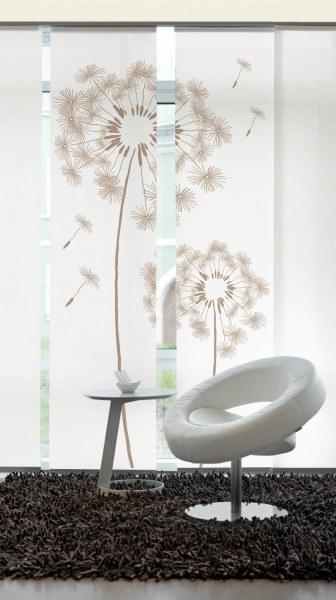 Designer Flächenvorhang Löwenzahn pusteblume