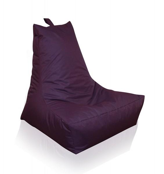 Mesana XXL Lounge-Sessel, 100x90x80 cm, Sitzsack Outdoor & Indoor, wasserabweisend, lila