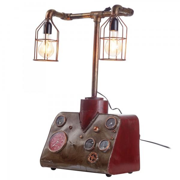 """Tischlampe """"Myleen"""" Vintage Look Eisenlampe 40x74x24cm Dekolampe Stehlampe"""