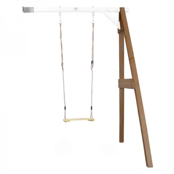 """Anbauschaukel """"Bend III"""" Schaukel Hemlock Holz braun-weiß 160x171x207cm Einzelschaukel Holzschaukel"""