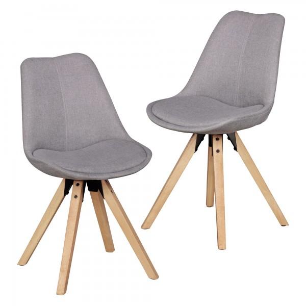 "2er Set Stuhl ""Sola VI"" Rubberwood 48x89x42cm Küchenstuhl Esszimmerstuhl"