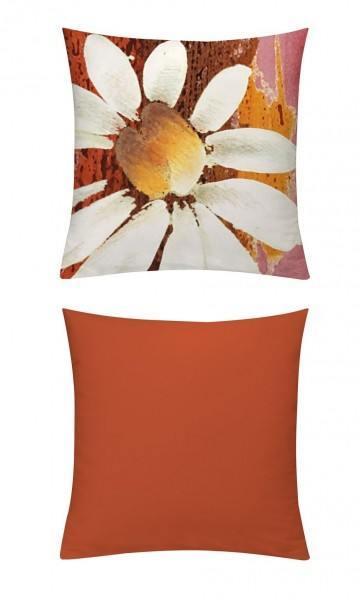 Kissenhülle Magarite Orangerot