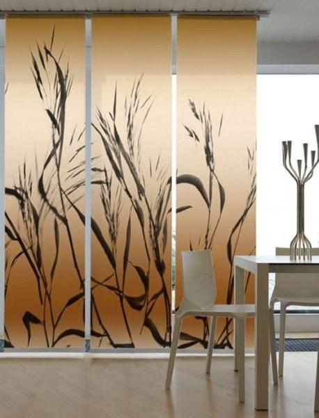 Emotion Textiles Schiebevorhang Flächenvorhang Getreide3-er Set incl. Montagesatz