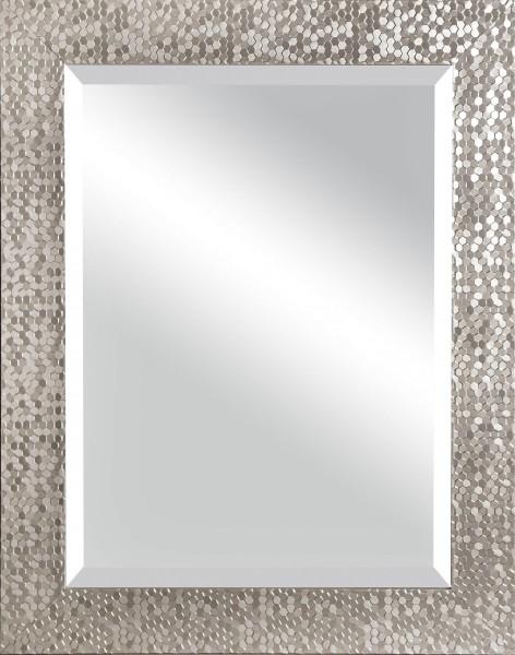 "Spiegelprofi 60465702 Rahmenspiegel JENNY Rahmenspiegel ""Lina"", silber, mit Facette, ca. 55 x 70cm Wandspiegel Spiegel"