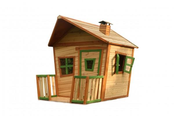 """Holzspielhaus """"Udine"""" mit Veranda 193x118x174cm aus Zedernholz in braun"""