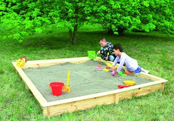 """Sandkasten """"Steffi"""", Kiefer, natur, 225x225x21cm, Spielsandkasten, Kindersandkasten, Kinder, Garten"""