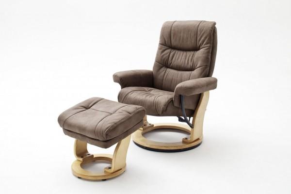 """Relax Sessel Komfort L """"Odense"""" - Wohnzimmersessel mit Hocker Polyester verschiedene Farben bis 100kg"""
