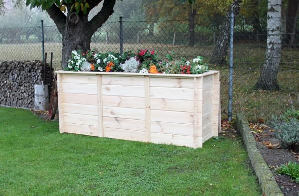 """Hochbeet """"Anni"""", Kiefer, natur, 200 x 80 x 85 cm, Gartenhochbeet, Blumenhochbeet, Garten"""