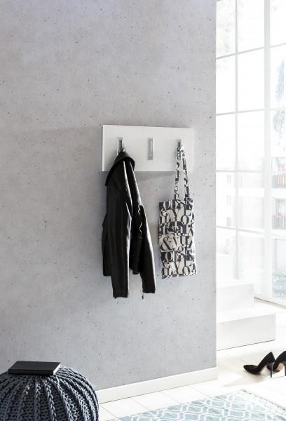 """Garderobenpaneel """"Lilo"""", weiß, 3 Garderobenhaken, 60 x 26 x 2,2 cm"""