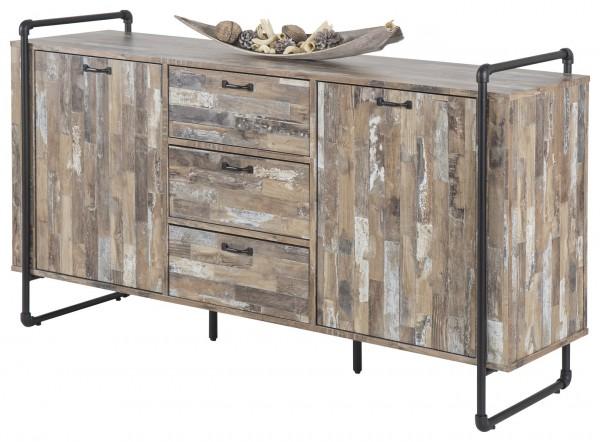 Sideboard Industrial Style Treibholz Look Braun 150x45x83cm
